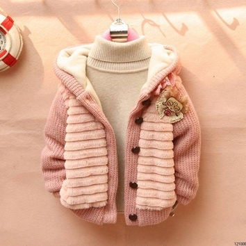 Children's Fashion 2015 Outerwear Clothing Girls Faux Fur Warm Coats & Jackets For Autumn   Winter = 1932009284