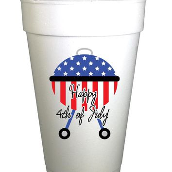 Copy of Happy Fourth of July Holiday Styrofoam Cups