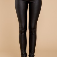Anytime Any Place Black Leggings