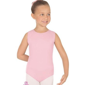 Eurotard 4489 Microfiber Tank Leotard With Fully Lined Front - Child
