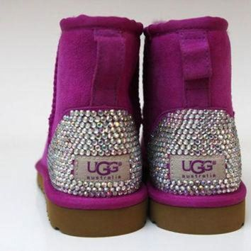 CREY1O customised bling ladies Ugg boots