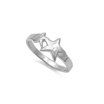 925 Sterling Silver Mother and Daughter Stars Ring