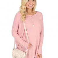 When I'm With You Sweater in Blush | Monday Dress Boutique
