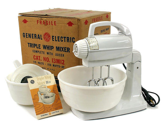 Nos vintage 1954 ge general electric from retroburgh for Antique general electric mixer