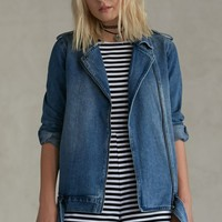 Gypsy Warrior Slouchy Denim Jacket - Womens Jacket - Blue
