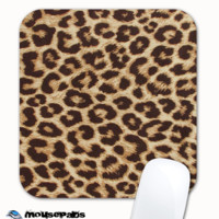 Real Leopard Print Skinned Mousepad