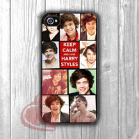 harry styles collage keep calm - DIT for iPhone 6S case, iPhone 5s case, iPhone 6 case, iPhone 4S, Samsung S6 Edge