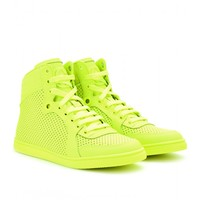 mytheresa.com - Neon leather high-tops - Luxury Fashion for Women / Designer clothing, shoes, bags