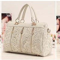 Hot New Oblique Carry Casual Big Bag Retro Lace Bags 2012 Lady's Handbags