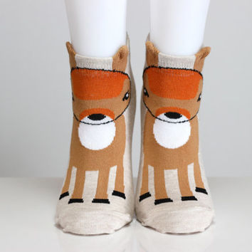 Gazelle Socks Reindeer Socks  Casual Socks Cute Socks Girls Socks Women Socks Funny Socks Ankle Socks Animal Socks Cute Fun Socks echerpe