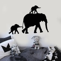 Vinyl Wall Decal Elephant Family Animal Room Decor Stickers Unique Gift (ig3878)