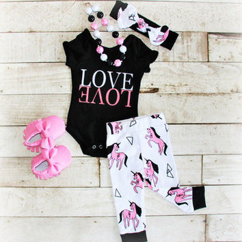 Girls Love Outfit, Take Home Outfit, Baby Girl Leggings, Infant Leggings, Toddler Leggings, Baby Leggings, Baby LOVE Onesuit, LOVE shirt