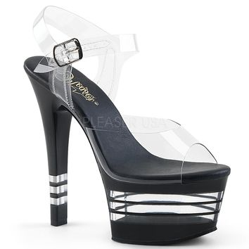 Black Ankle Strap Sandal With 6 Inch Heels Stripper Shoes