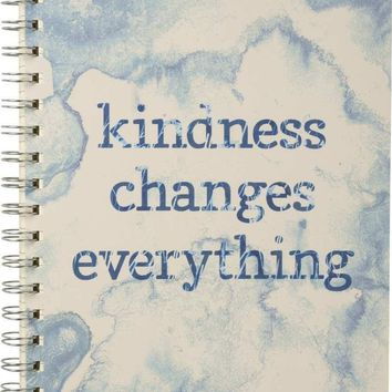 Kindness Changes Everything Indigo Dyed Spiral Notebook