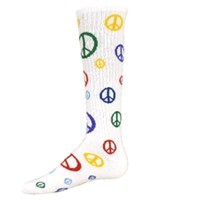 Multi Colored Peace Sign Socks
