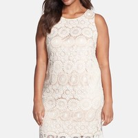 Plus Size Women's Eliza J Sleeveless Lace Shift Dress