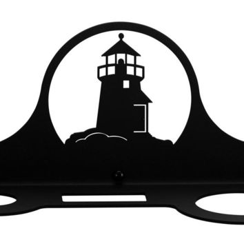 Wrought Iron Lighthouse Hair Dryer Holder Rack