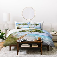 Rosie Brown Swaying Palms Duvet Cover