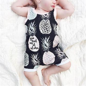 Abacaxi Kids Pineapple Romper Newborn - 18 Months