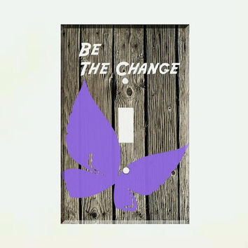 Light Switch Cover - Light Switch Plate Be The Change Inspirational