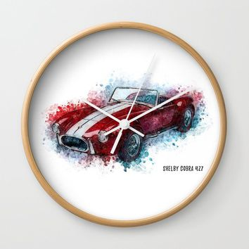 Shelby Cobra 427 Wall Clock by naumovski
