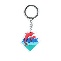Wave Keychain – Pink+Dolphin