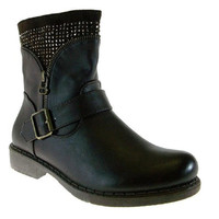 Women's First Sight Studded Cuff Fur Lined Boots Vancover05 Brown