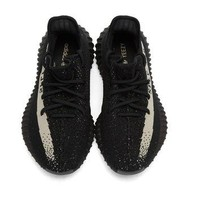 Black & Off-White YEEZY BOOST 350 V2 Sneakers