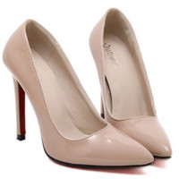 Pointed Toe Design Women's Nude Pumps