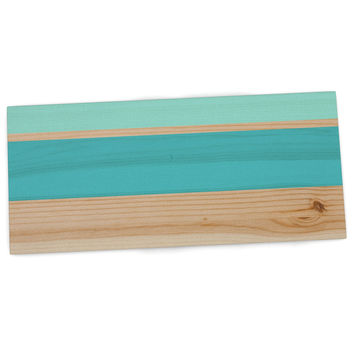 "KESS Original ""Spring Swatch - Blue Green"" Teal Wood Desk Mat"