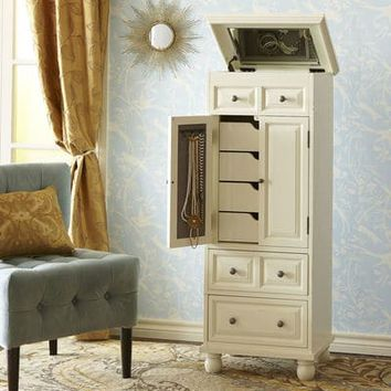 Ashworth Chestnut Brown Jewelry Armoire
