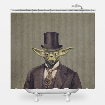 Sir Yodington Shower Curtain