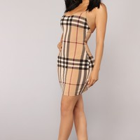 Mystery Girl Dress - Taupe