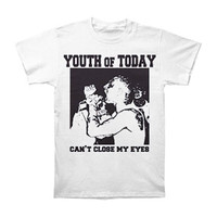 Youth Of Today Men's  Can't Close My Eyes T-shirt White
