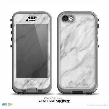 The White Marble Surface Skin for the iPhone 5c nüüd LifeProof Case