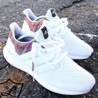 Adidas Fashion New Mesh Women Men Sports Leisure Knit Shoes White