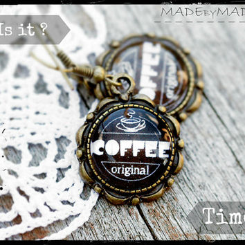 Coffee brown Retro look Jewelery, Free Shipping from MADEbyMADA