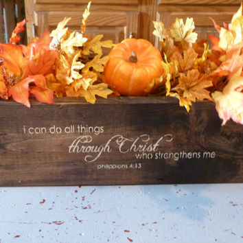 Rectangular Box, Primitve ,Decor, Wooden Box, Center Piece, Wedding Decor, Wooden Planter Box