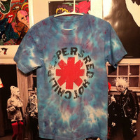 Red Hot Chili Peppers tie dye t shirt. Size S by NoWavves on Etsy