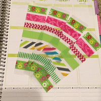 FREE SHIPPING A5 Washi stickers for Erin Condren Life Planner/Plum Paper Planner