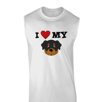 I Heart My - Cute Rottweiler Dog Muscle Shirt  by TooLoud