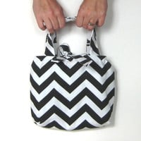 Chevron Tote Bag. Small Purse.12 Chevron Color Choices Mix n Match 12 Solid Colors. Design Your Own Tote. Reversible Bag. Summer Fashion