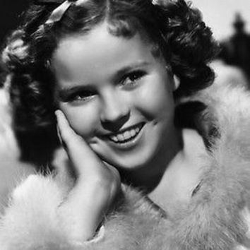 SHIRLEY TEMPLE head shot poster FEATHERS CURLS professional quality 24X36