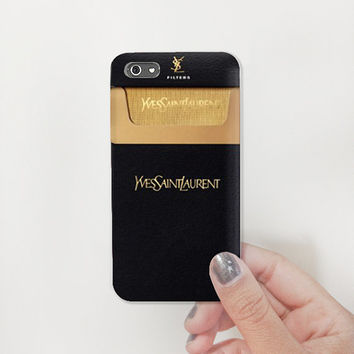 Classy Black Gold Yves Saint Laurent cigarettes Plastic Case - iphone 5  - iphone 4 - iphone 4s - Samsung S3 - Samsung S4 - Samsung Note 2