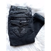 ROCK REVIVAL ENA S21 BLACK SKINNY JEANS