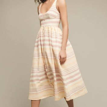 Yarn-Dyed Manteo Midi Dress