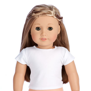 White T-Shirts - Doll Accessories - Pack of 3 - Doll Clothes for 18 inch American Girl Doll