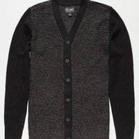 Retrofit Brad Mens Sweater Cardigan Black  In Sizes