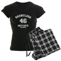 CafePress Divergent - Dauntless Initiate 46 Pajamas Women's Dark Pajamas - S With Checker Pant