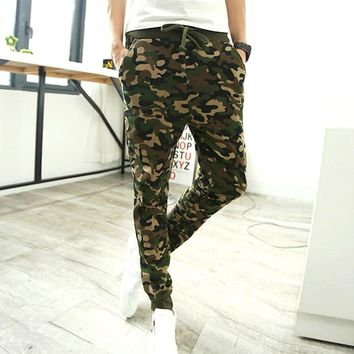 High Quality Brand Camouflage Pants Men Casual Slim Trousers Men Jogger Harem Sweatpants Cargo Pants 2016 Fashion K01